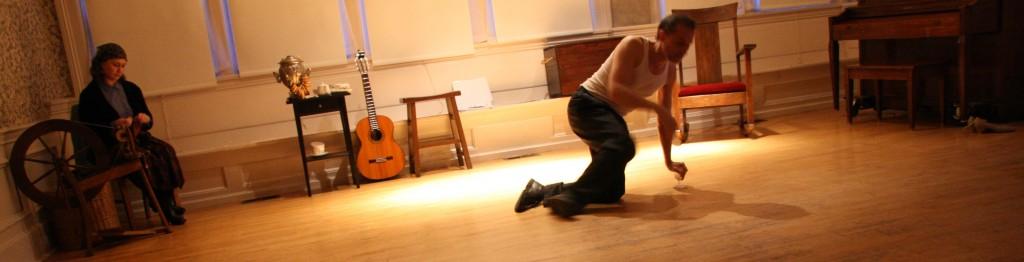 UNCLE VANYA (2014) | Zhenya Lavy as Marina, Joseph Lavy as Vanya | Photo: Annie Paladino