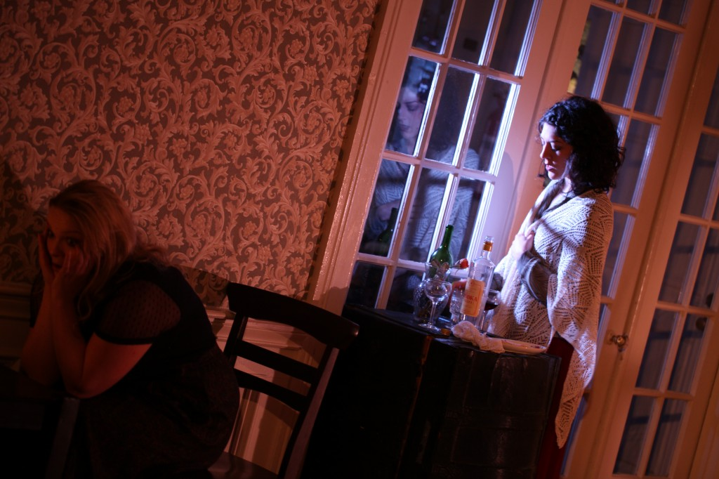As Sonya (Margaretta Campagna) confronts feelings of inadequacy in her desired courtship of Astrov, Elena (Samantha Routh) moves in to offer friendship and assistance. | Uncle Vanya (2014) | Photo: Annie Paladino