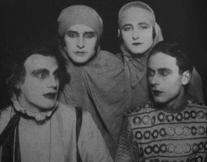 L-R: Gustaf Gründgens, Erika Mann, Pamela Wedekind, Klaus Mann | At the time this photo was taken, Erika was engaged to Gustaf but was having an affair with Pamela, who was engaged to marry Klaus, who was romantically involved with Gustaf.  They also were appearing in Klaus's play, Anja und Esther, based on the affair between Erika and Pamela.